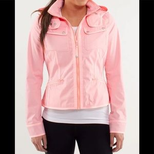 Lululemon pink Out and about rain jacket